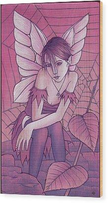 Cobweb Wood Print by Yuri Leitch