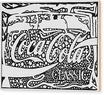 Coca-cola Maze Advertisement  Wood Print by Yonatan Frimer Maze Artist