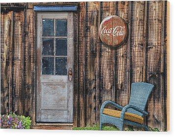 Coca Cola Wood Print by Paul Wear