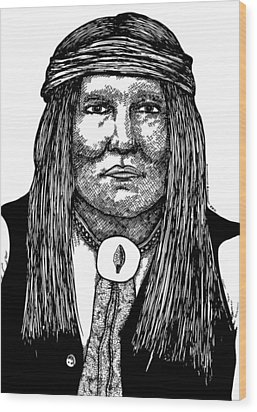 Cochise Wood Print by Karl Addison