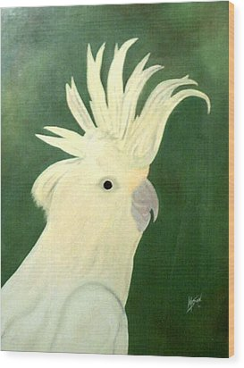 Cockatoo Wood Print by Guillermo Mason