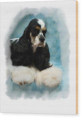 Cocker Spaniel 814 Wood Print by Larry Matthews