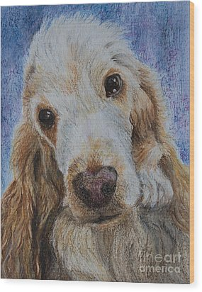 Cocker Spaniel Love Wood Print