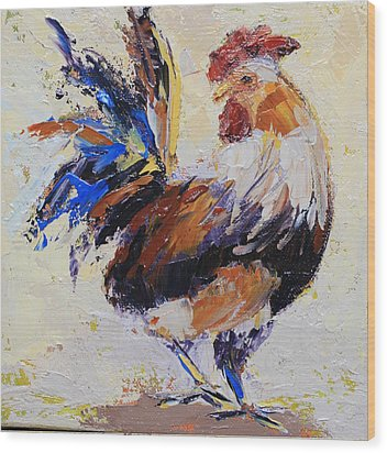 Cockrell Two Wood Print by Yvonne Ankerman