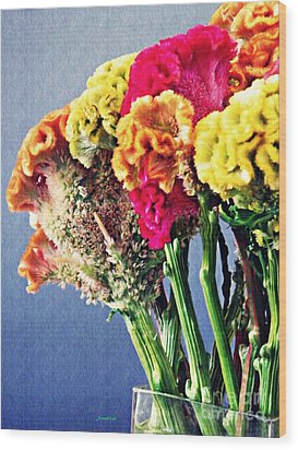 Wood Print featuring the photograph Cockscomb Bouquet 2 by Sarah Loft