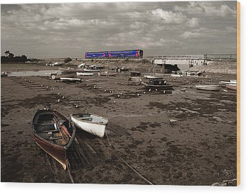 Cockwood Harbour Wood Print by Rob Hawkins