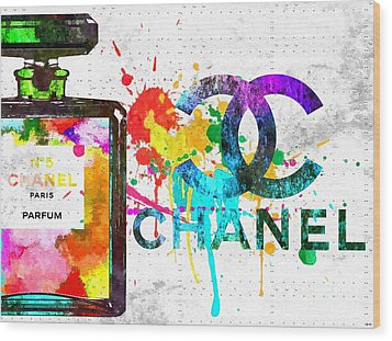 Coco Chanel No. 5 Grunge Wood Print