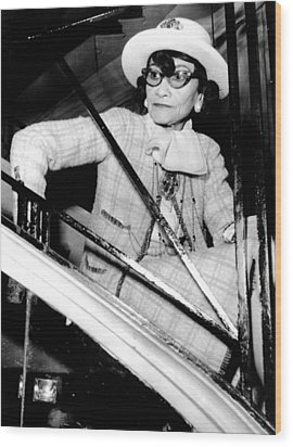 Coco Chanel, Watching Her 1969 Wood Print by Everett