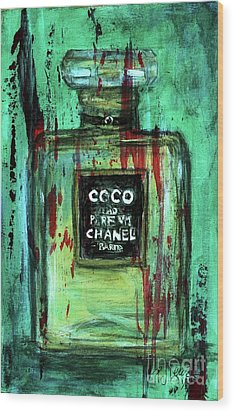 Wood Print featuring the painting Coco Potion by P J Lewis