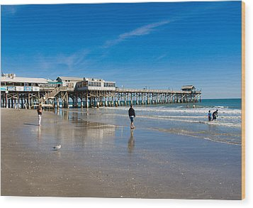 Cocoa Beach Florida Wood Print by Allan  Hughes