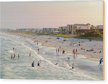 Cocoa Beach Wood Print by Laura DAddona