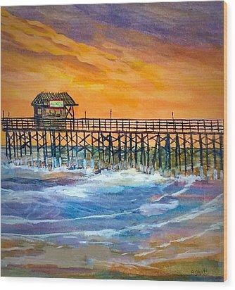 Cocoa Beach Pier Wood Print