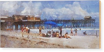Cocoa Beach Pier Wood Print by Francesa Miller