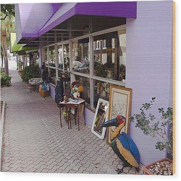 Cocoa Village In Florida Wood Print by Allan  Hughes