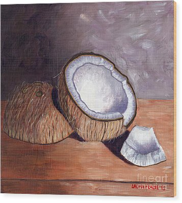Coconut Anyone? Wood Print
