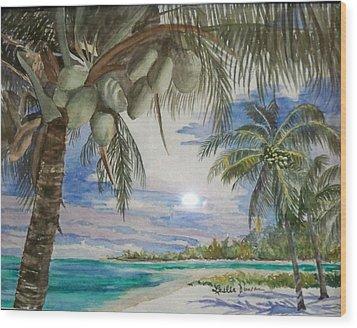 Coconut Beach Wood Print by Leslie Duncan