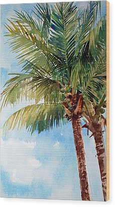 Coconut Palm Wood Print by Peter Sit
