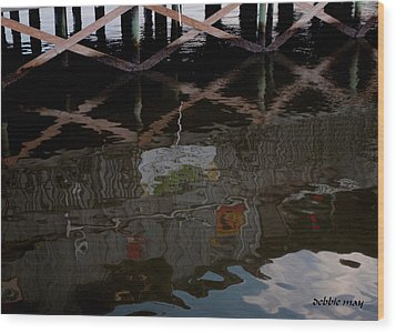 Coconuts Wharf-picasso Style Wood Print by Debbie May