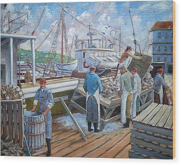 Cod Memories Wood Print by Richard T Pranke