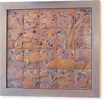 Coelacanths Wood Print by Raimonda Jatkeviciute-Kasparaviciene