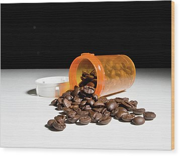 Coffee Addiction Wood Print by Jim DeLillo