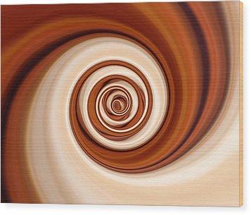 Coffee And Cream Wood Print by Pauline Thomas