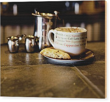 Coffee Bar Wood Print