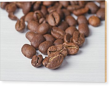 Wood Print featuring the photograph Coffee Beans by Gert Lavsen