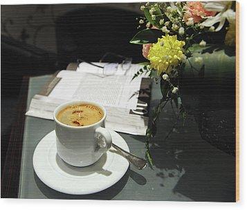 Coffee Break Wood Print by Graham Taylor