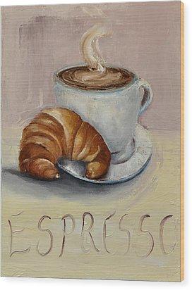 Coffee Break Wood Print by Lindsay Frost