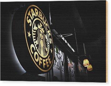 Coffee Break Wood Print by Spencer McDonald