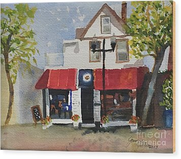 Coffee Co. Ocean City New Jersey Wood Print