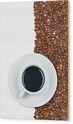 Coffee Wood Print