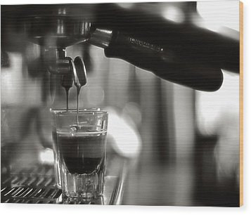 Coffee In Glass Wood Print by JRJ-Photo