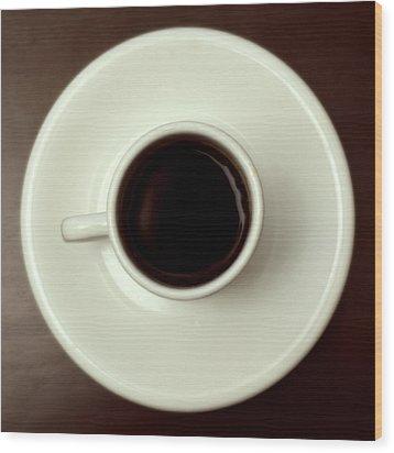 Coffee Wood Print by John Gusky