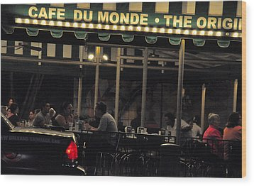 Coffee Nola Style Wood Print by Helen Haw