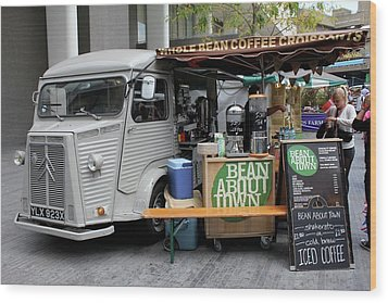 Coffee Truck Wood Print by Christin Brodie