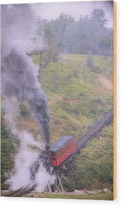 Cog Railway Car Wood Print