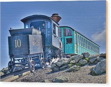 Cog Train Mount Washington Wood Print by Jim Proctor