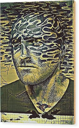 Cognitive Distortions Wood Print by Paulo Zerbato