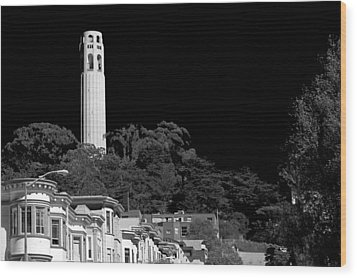 Coit Tower Wood Print by Anthony Citro