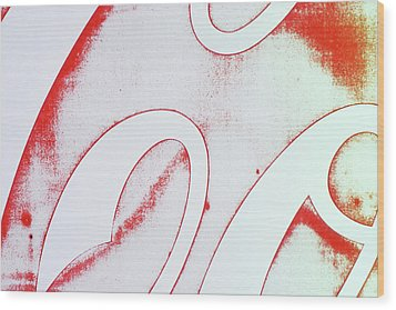 Wood Print featuring the photograph Coke 2 by Laurie Stewart