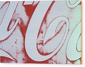 Wood Print featuring the photograph Coke 3 by Laurie Stewart