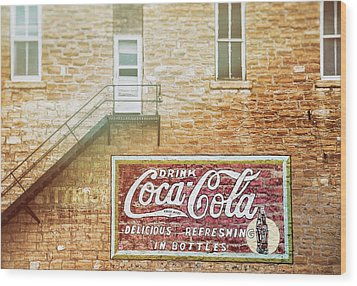 Wood Print featuring the photograph Coke Classic by Darren White