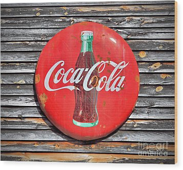 Coke Wood Print by Marion Johnson