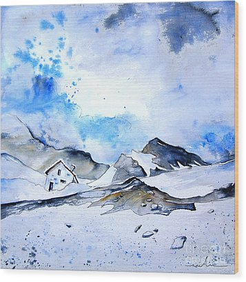 Col Du Pourtalet In The Pyrenees 01 Wood Print by Miki De Goodaboom