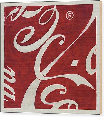 Cola - Coca Wood Print by Antonio Ortiz
