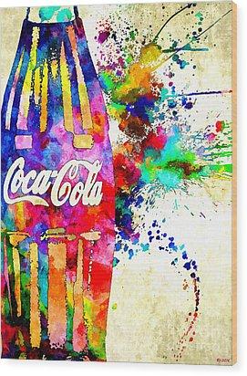 Cola Grunge Wood Print