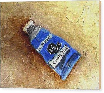 Colbalt Blue Wood Print