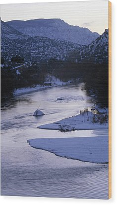 Cold And Blue Wood Print by Lynard Stroud